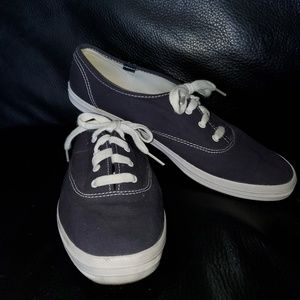 Keds Navy Blue Canvas Sneakers Women's Size 10